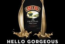 Hello Gorgeous! Baileys Bottle Art / Celebrate the launch of the new sleeker Baileys Irish Cream Bottle.  So sleek it fits within the door of your fridge now!