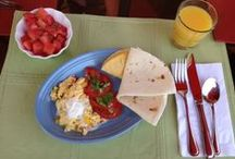 Breakfast at Inn on the Paseo / Breakfast at the Inn is complimentary and consists of a main dish, fruit, baked specialty items such as muffins or scones, cold cereal, juices, milk, coffee and tea. The menu changes daily and will also vary by season. In addition, we also work with guests to provide special dietary needs. Fresh fruit is always available along with a baked treat in the afternoon. www.innonthepaseo.com