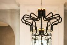 TAL ● KING GEORGE ♕ / A contemporary interpretation of the classical and royal chandelier. KING GEORGE is a jewel of simplicity, purity and technical ingenuity. Design by Michel De Nyn. USE: Who's the King?