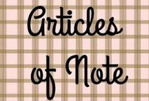 Articles of Note