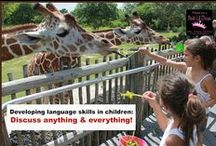 Talking with Your Young Child - Every Child Ready to Read @your library / One of the five best ways to help your child get ready to read is Talking.  Talking with your child is one of the best ways to help develop language and other early literacy skills. Conversations help a child express thoughts, learn what words mean, and gain new information about the world. Any place is a good place to talk with your child. All you need is to take the time and ignore any distractions. Listen to what your child says, answer questions, add new information, and listen some more!