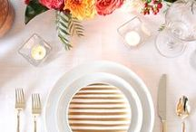 Havenly Tablescape Design Inspiration / Beautiful styling tips for your next dinner party, summer soriee, or simple get together!