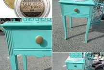 Chalk Paint Shabby / Poppies Paint Powder inspiration! A Collaboration of chalk painted furniture and DIY Fun! #chalkpaint #upcyclefurniture #poppiespaintpowder
