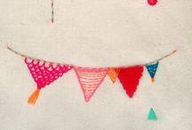 Banner + Girlanden / hängende Verschönerungen, Deko, Grüße + Wünsche oder einfach so weil Lust auf Basteln..ich liebe sie / by a.liZ.a