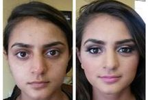 Before & After / Before and after Makeup applications (by me)