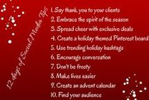 12 days of social media tips / Here are 12 different tips for utilizing social media successfully during the holiday season. Via Social Power Inc.   www.socialpower.me #holidays #christmas #socialmediatips #12days #socialmedia