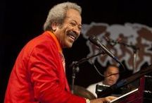Allen Toussaint (1938 - 2015) / Allen Toussaint, producer, songwriter, arranger, session pianist, solo artist was a legend of New Orleans music. Toussaint bore an enormous amount of responsibility for the sound of R&B in the Crescent City from the '60s on into the '70s. His contributions to New Orleans music, and to rock & roll in general, were honored with an induction into the Rock and Roll Hall of Fame in 1998. / by Highland Park Public Library A-V Department