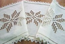 Embroidery - Hardanger / this is my favorite type of embroidery to do!  Hardanger makes the most beautiful cut work and counted thread linens