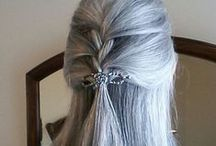 Going GRAY!! / Pics of gray / white / silver hair.  Preferably on older women.  And mature clothing styles, which I need help with!