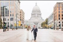 Iconic Madison Weddings / Where to take wedding pics in Madison, WI! Here are some of our favorites.