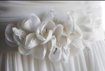 Our Accessories / A selection of our favourite headpieces, sashes and jewellery available here at Hobnob