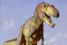 Dinosaurs - Artistic Reproductions / Dinosaur artistic renderings and reproductions including T-Rex and other action figures. What did dinosaurs look like?