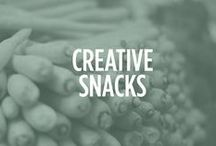 Creative Snacks / Never have trouble getting your children to eat their veggies again with these creative snacks.