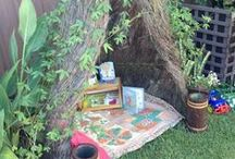 Nature PlayScape / A Nature PlayScape is designed using natural features that are used for open-ended creative play. Plants, soil, and water can be touched and manipulated, not just observed, to stimulate the senses and promote a sense of wonder. Find tips and ideas on how to make a Nature PlayScape in your backyard!