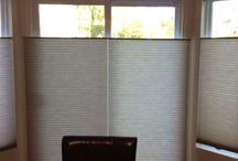 "Cellular or honeycomb shades / Budget Blinds- Cellular shades are the best insulating window treatment you can purchase with ""R-value"" (aka: thermal resistance) ratings as high as 7 or more. They also have noise reduction properties ""NRC"" (aka: noise reduction coefficient), which represents the amount of sound energy absorbed by the shade. With versatile options like top down/bottom up functionality, child safe cordless control and blackout fabrics, while keeping your home warm and quiet, cellular shade window treatments have it all."