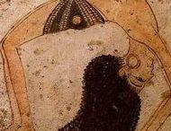 Egito Antigo - História da Dança do Ventre / Pinturas de parede de 1600 AC e esculturas nas paredes das tumbas de 1300 AC  mostrando rituais de dança no Egito Antigo.  //  Ancient Egypt - Belly Dance History  Wall paintings from 1600 BC and carvings on the walls of the tombs of 1300 BC showing dance rituals in Ancient Egypt