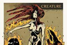 Illuastrazione CREATURE inedito / illustrazione di Creature dal Crepuscolo della percezione ( http://www.hyppostyle.com/joomla/produzione-futura-2/51-creature ) inedita, portata al recente Lucca Comics & Games 2014