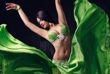 Verde - Green / A dança do ventre em cores. The colors of belly dance.