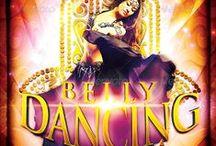 Flyers de Dança do Ventre - Belly Dance Flyers / Flyers ideas for publicity and advertising.  Ideias para folhetos de divulgação e propaganda do seu evento.  Ideas de folletos de divulgación y publicidad para su evento.