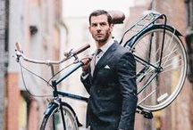 men on bikes / muži na bicyklech