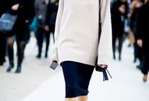 winter chic / Keeping warm and chic in muddy climes.