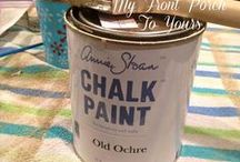 kitchen revamped / Repaint and retouch old cupboards to make them look fantastic.  Chalk paint and ease of use