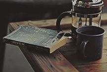 Books & Coffee / Time to relax, take a book and drink coffee and enjoy the story of a book.