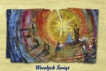 kartki bożonarodzeniowe / cards for Christmas / Bożonarodzeniowe kartki - widoki z moich prac Christmas cards - views was painted by me