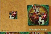 kartki wielkanocne / easter cards / kartki wielkanocne na drewnie ze starego domu / easter cards on wood from old house