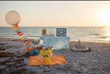 {Party} Sandcastle Building / Designed and styled for Twinkle Twinkle Little Party's 2014 summer issue. By Painted and Sprinkled