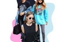 PLT BAE • Gigi Hadid / Shamelessly steal PLT Bae Gigi's style and look like our fave model of the moment with our handy celeb-inspired fash guide onsite! Wear off-duty cool bomber jackets with fabulous frayed skinny jeans! Style with cute crops, strappy stiletto heels and add some seriously sleek shades to complete the look. You'll be looking every inch the model.