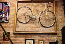 M ❤️ Bike on the wall / When your husband is a fanatic cyclist you will understand why theirs a bike on our wall