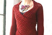 Crochet and Knitted Coats, Vests, Sweaters and Cardigans