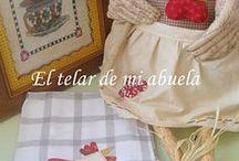 """Paños de cocina y toallas / by Reyes """"El telar de mi abuela"""""""