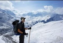 Trekking in the Himalayas / Trekking in the highest Mountains of the World