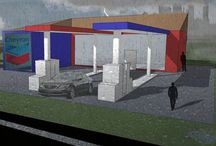 Petrol Forecourts Renders / a collection of my creations during the petrol forecourt project in AS Architecture