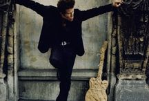 "Tom Waits / A very talented musician, who is truly unique in his exploration of the underbelly of our society. And he does in a very unique style. Who else would say, ""there is no devil, it's only God when he's drunk"". / by Mike Vermillion"