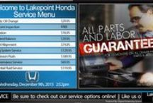 Service Menus and Service Appointment Boards / Digital Service Menus and Service Appointment Boards for Car Dealers
