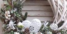 Vianočné inšpirácie / adventné vence, ozdoby Vianoc a rôzne aranžmany