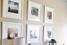 FOTO stena nápady / umiestnenie obrazov a fotiek na stenu
