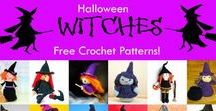 Crochet Halloween Witches / Crochet patterns for Halloween witches!