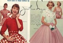50's style of dress / Fashion of the 1950's whether ordinary or chic fashionable. / by Janet Hendon