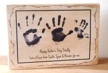 Father's Day Gift Ideas / Father's Day gift ideas to give to Dad from your children. Handmade and personal gift ideas that Dad can treasure forever. Give a unique keepsake gift this year.