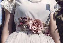 Cinturones de flores hechos a mano / Cinturones de flores y accesorios hechos a mano para bodas y eventos