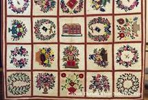 Antique Album Quilts / Baltimore Albums and Album-style quilts and blocks: mid-1800s