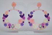 Pendientes de Flamenca y Fiesta con aros acetato / Diseño exclusivo Complementos del Sur www.complementosdelsur.com