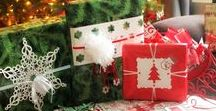 Christmas Wrapping | Seasonal / All types and styles of Christmas wrapping ideas, papers, containers, ribbons, games. If you pin to this board remember to pin at least one in return.