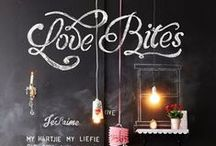 Decor: Chalkboard walls / If chalkboard paint touches a wall, it'll land here / by Donna - Funky Junk Interiors
