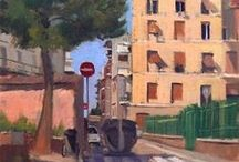My Italian and Rome Paintings / Paintings done on the streets of Rome by yours truly