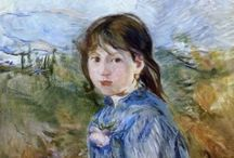 Artist: Morisot / Berthe Morisot (1841–1895) French Impressionists in the Salon de Paris at 23 & by 33 in her own exhibitions with other great Impressionists. Married brother of friend Édouard Manet. Comments are from other pinners. / by Laurie Mullikin